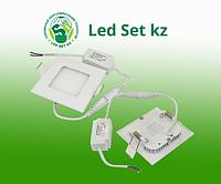 Светильник 3W встраиваемый квадратный белый, 85 (70) мм (ультратонкий) DECO