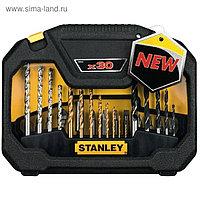 """Набор сверл Stanley """"FatMax"""", по бетону, дереву, металлу, насадки, 30 шт"""
