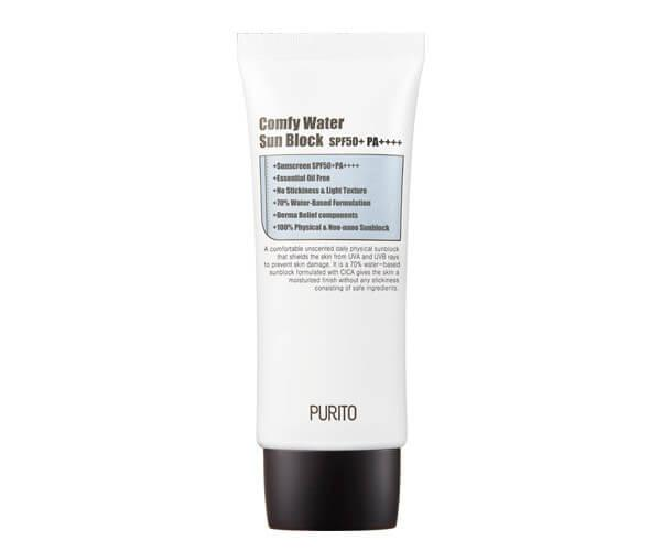 Увлажняющий солнцезащитный крем PURITO Comfy Water Green Sun Block SPF50+PA++++