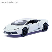 Машина металлическая Lamborghini Huracan LP610-4, 1:36, открываются двери, инерция, цвет белый