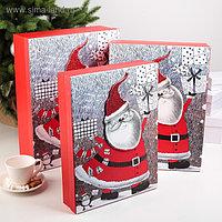 Набор коробок 3 в 1 «Санта», 39 х 30 х 11 - 35 х 26 х 7 см