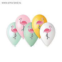 "Шар латексный 14"" «Фламинго», набор 25 шт., МИКС"