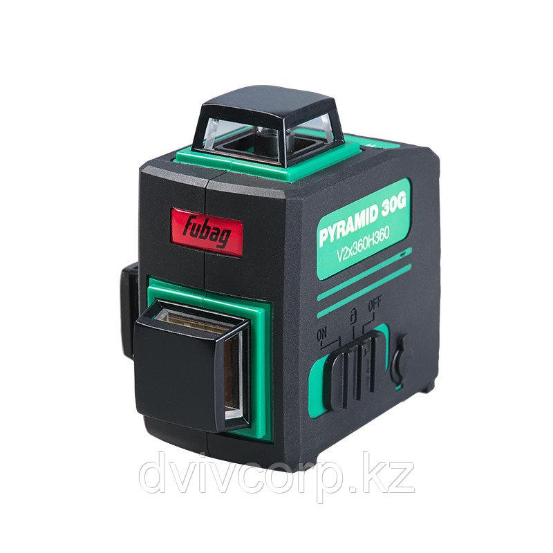 FUBAG Лазерный 3D уровень с зеленым лучом Pyramid 30G V2х360H360