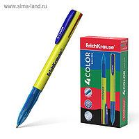 Ручка шариковая автоматическая 4-х цветная Erich Krause 4 COLOR, узел 0.7 мм, чернила: синие, чёрные, красные,