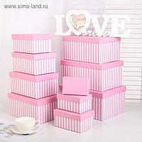 Набор коробок 10 в 1, 30 х 21 х 14,5 - 12 х 7,5 х 6,5 см