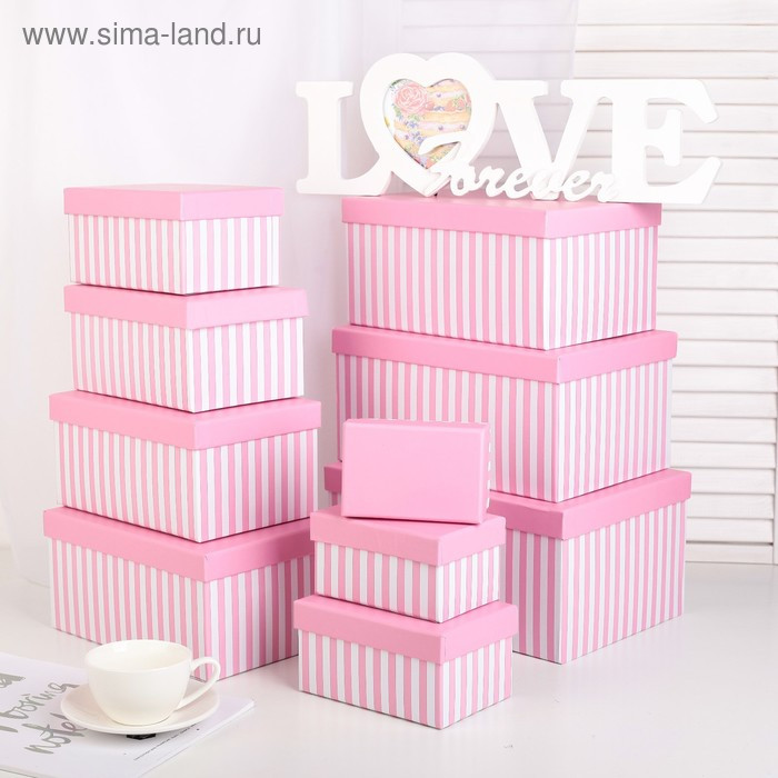 Набор коробок 10 в 1, 30 х 21 х 14,5 - 12 х 7,5 х 6,5 см - фото 1