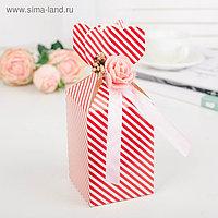 Коробка сборная, красный, 7,5 х 7,5 х 11 см