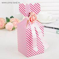 Коробка сборная, розовый, 7,5 х 7,5 х 11 см