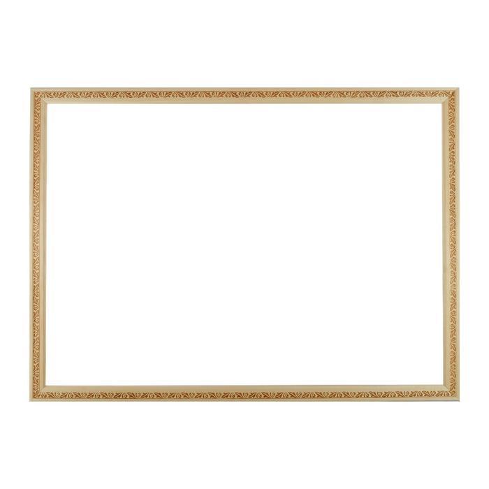 Рама для зеркал и картин, дерево, 50 х 70 х 3.0 см, липа, «Лепесток», горячее тиснение