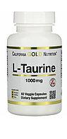 L - Taurine Таурин 1000 мг. 60 капсул. California gold nutrition.