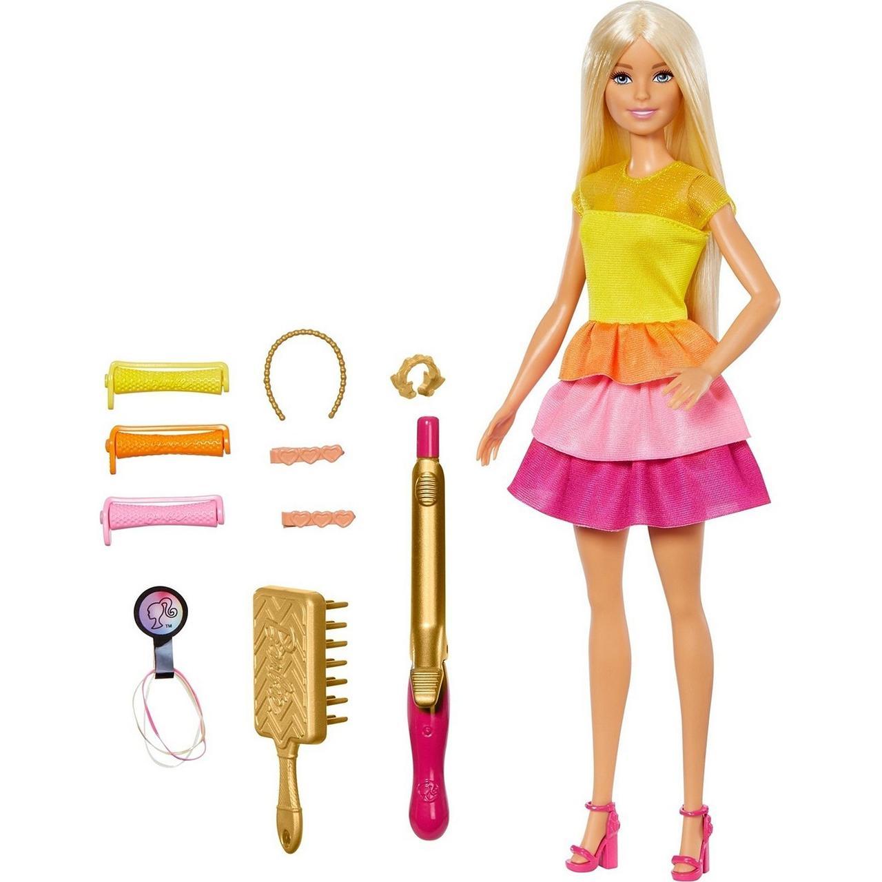 Barbie Кукла Барби Блондинка в модном наряде с аксессуарами для волос