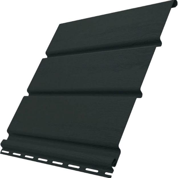 Софит виниловый 0,3x3,0 м (0,9 м2) Графит без перфорации SV-08 UNICOLOR