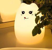 """Силиконовый Led ночник-лампа """"Кошечка"""" Язычок"""