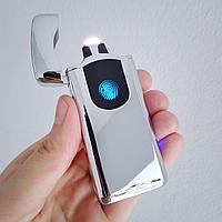 """Электроимпульсная зажигалка """"LIGHTER"""" с отпечаткой пальца., фото 1"""