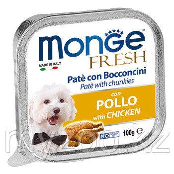 MONGE FRESH DOG, Монже Фреш для собак паштет с курицей, ламистер 100 гр.