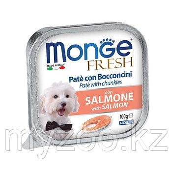 MONGE FRESH DOG, Монже Фреш паштет с лососем для собак, ламистер 100 гр.