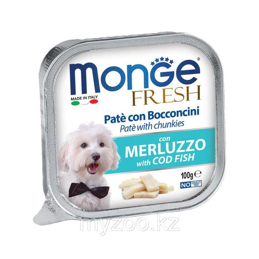 MONGE FRESH DOG, Монже Фреш паштет с треской для собак, ламистер 100 гр.