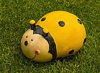 Садовая фигурка Божья коровка 20х14х10 см, цвет желтый