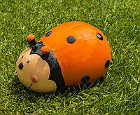 Садовая фигурка Божья коровка 20х14х10 см, цвет оранжевый