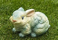 Садовая фигурка из гипса Заяц малый белый 13×20×15см белый
