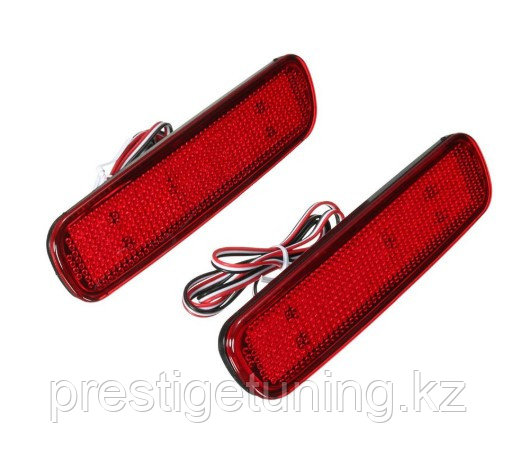 Задние диодовые вставки в бампер RED COLOR на LC100/LX470