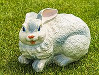Садовая фигурка из гипса Заяц большой белый 18×30×18см