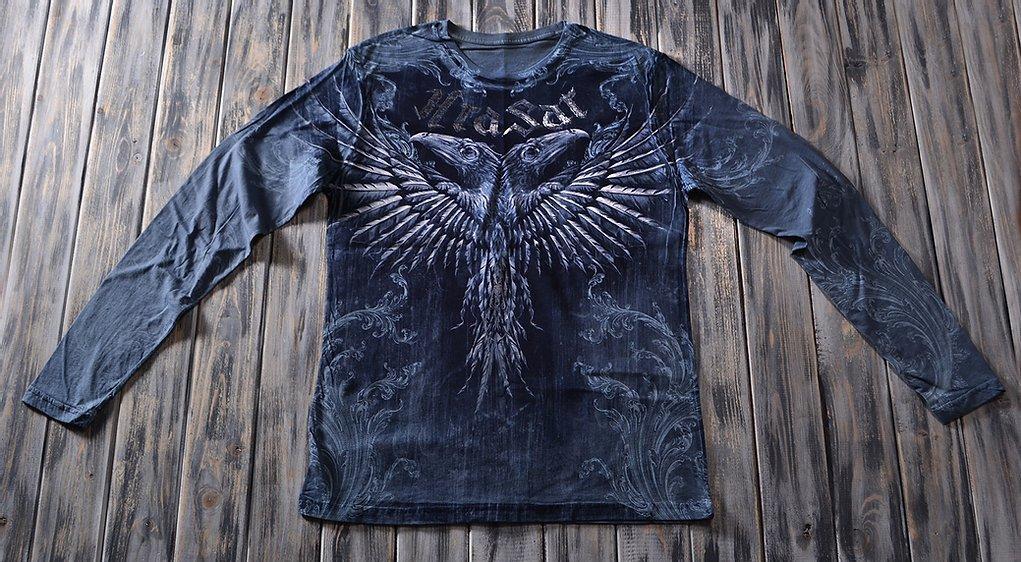 «Ворон двуглавый» мужской лонгслив в Алматы