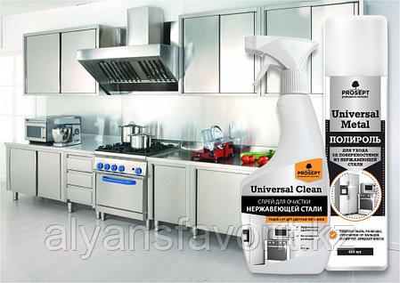 Universal Clean - средство для отчистки нержавеющей стали и цветных металлов. 500 мл.- спрей. РФ, фото 2