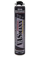 Пена монтажная профессиональная VASmann premium 70+, всесезонная -10°С, 1020 г,