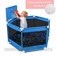 Игровой манеж +30 шариков(красный,голубой), фото 3