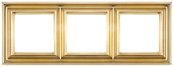 Рамка Eco Profi DECO 3-местная (золото)