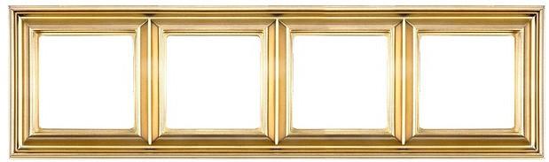 Рамка Eco Profi DECO 4-местная (золото)