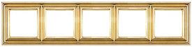 Рамка Eco Profi DECO 5-местная (золото)