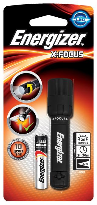 Фонарь компактный Energizer X-Focus  1x AAA черный