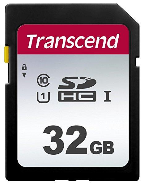 Карта памяти SD 32GB Class 10 U1 Transcend TS32GSDC300S