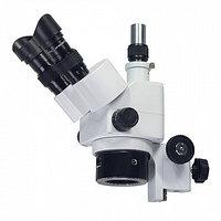 Оптическая головка МС-4-ZOOM (тринокуляр) с фокусировочным механизмом на штатив , фото 1