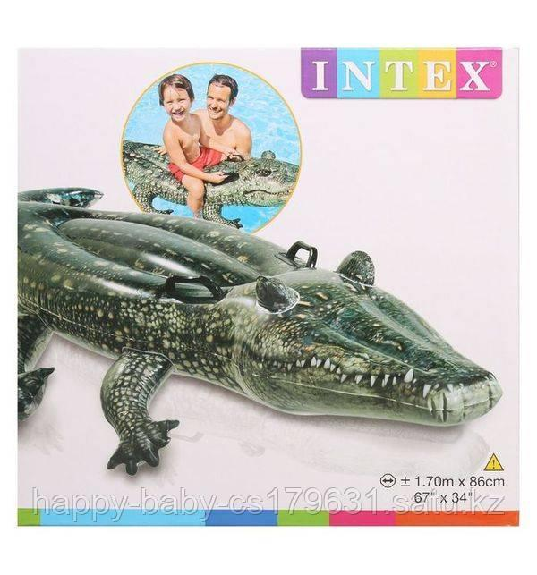 Надувной плотик INTEX с57551 Аллигатор 170х86 см
