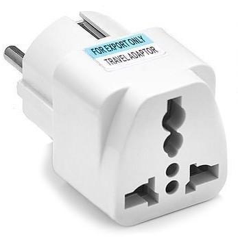 Универсальный адаптер-переходник евровилка (белый)