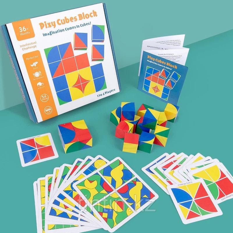 Настольная игра-головоломка — Пиксельные кубик, Pixy cubes block