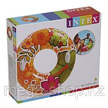 Надувной круг  для плавания с ручками 97 см - 58263 Intex
