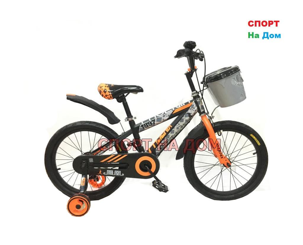 Детский велосипед Phoenix на 5-6 лет с холостым ходом рама 18