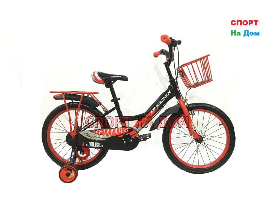 Детский велосипед Phillips на 5-6 лет с холостым ходом рама 18