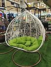 Кресло садовое подвесное белое (D125 см)