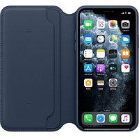 Apple iPhone 11 Pro Max Leather Folio - Deep Sea Blue аксессуары для смартфона (MY1P2ZM/A)