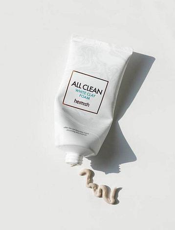 Глиняная пенка для лица Heimish All Clean White Clay Foam (150мл), фото 2
