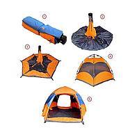 Палатка 2-х местная Hanlu HL-8880A-1, 2*1,5*1 м., (190Т, 1000 мм., автомат, однослойная)