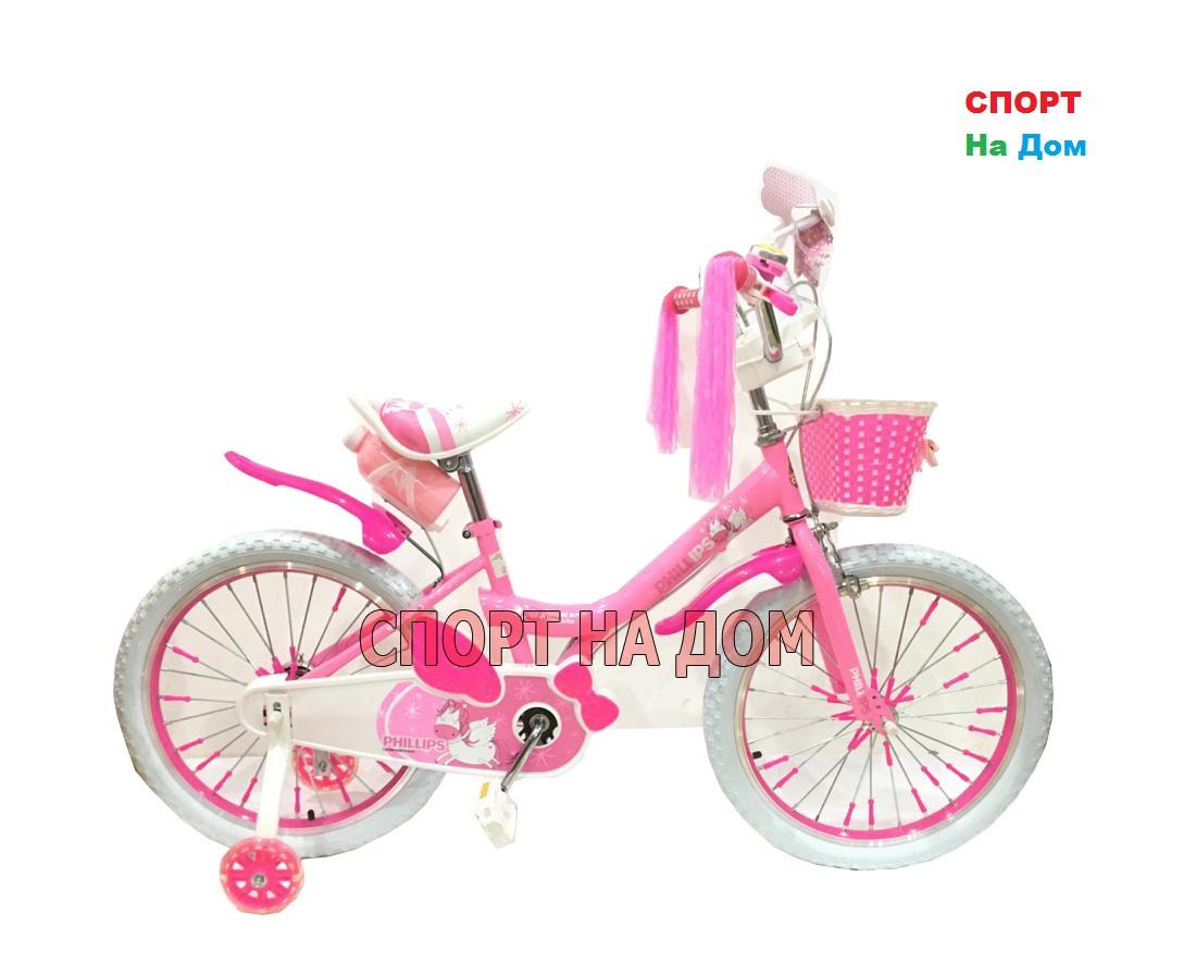 """Велосипед Phillips на 6-7 лет для девочек """"Принцесса+"""" рама 20"""