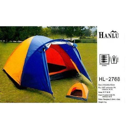 Палатка 4-х местная Hanlu HL-2768 (210*240*150 см., 190Т, 1500 мм., 3 кг.)