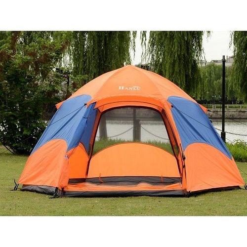 Палатка 4-х местная Hanlu HL-8206-2 (2,4*2,4*1,35 м., 190Т, 2000 мм., автомат, двуслойная)