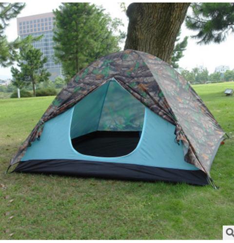 Палатка 4-х местная Hanlu HL-D17-1 (200*200*130 см., 180Т, 2500 мм., 2,1 кг.)
